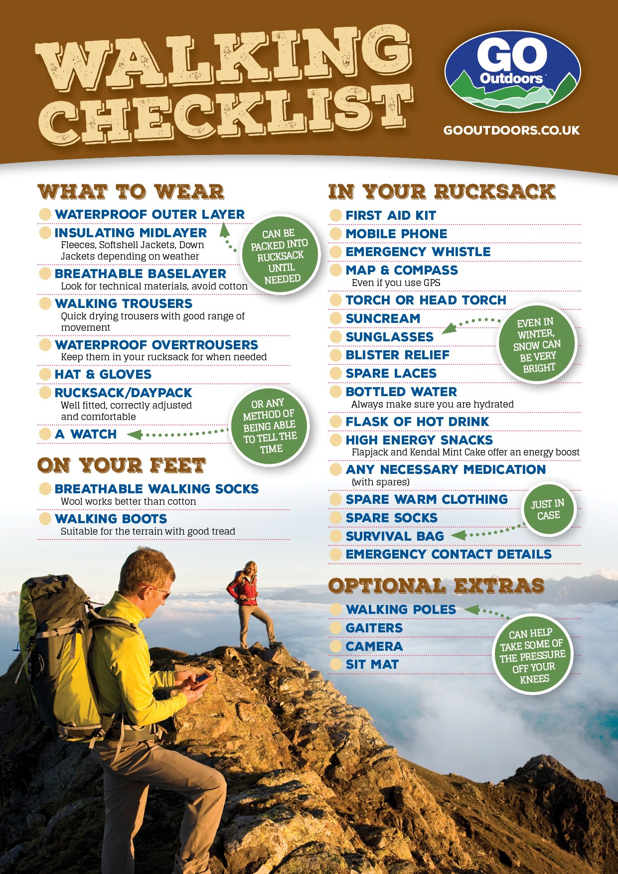 GoOutdoors Walking checklist2